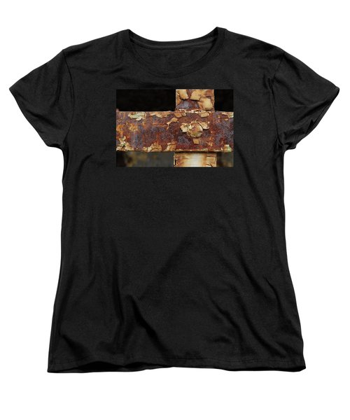 Women's T-Shirt (Standard Cut) featuring the photograph Cell Strapping by Fran Riley