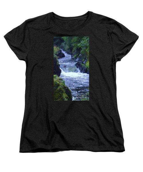 Women's T-Shirt (Standard Cut) featuring the photograph Cenarth Falls by John Williams