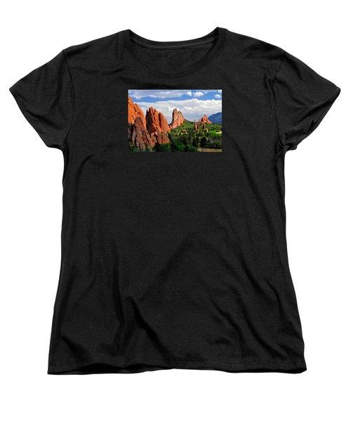 Central Garden Of The Gods Park Women's T-Shirt (Standard Cut) by John Hoffman