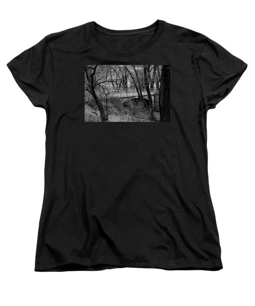 Central Park 2 Black And White Women's T-Shirt (Standard Cut) by Chris Thomas