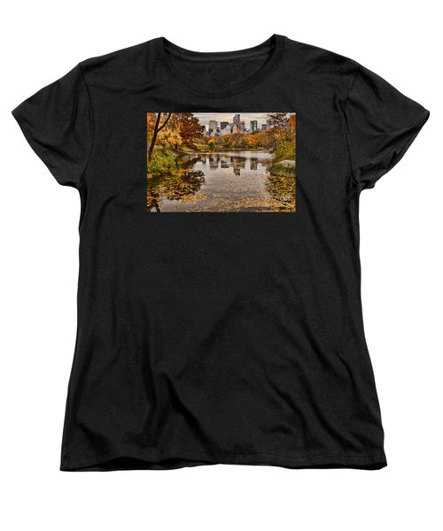 Central Park In The Fall New York City Women's T-Shirt (Standard Cut) by Sabine Jacobs
