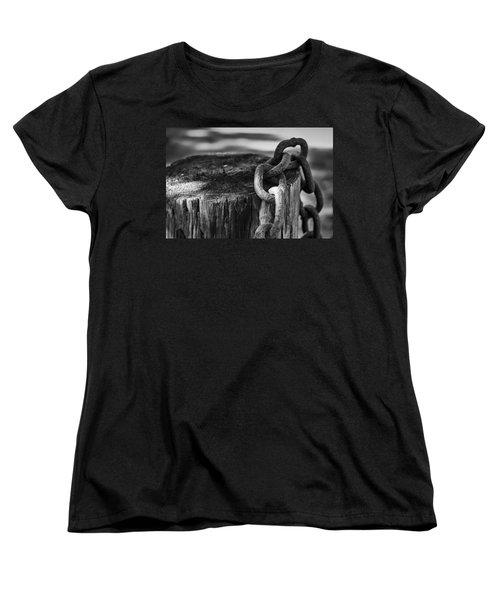 Chained... Women's T-Shirt (Standard Cut) by Eduard Moldoveanu
