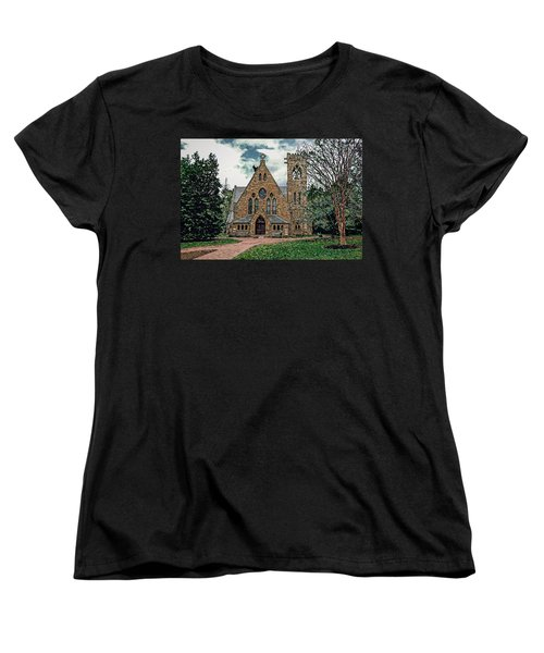 Chapel At University Of Virginia Women's T-Shirt (Standard Cut) by Jerry Gammon