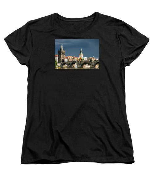 Charles Bridge Prague Women's T-Shirt (Standard Cut) by Matthias Hauser