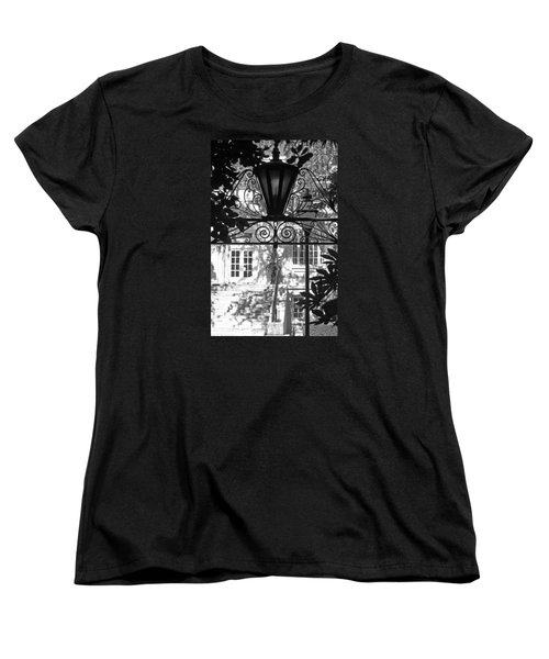 Charleston Gateway II In Black And White Women's T-Shirt (Standard Cut) by Suzanne Gaff