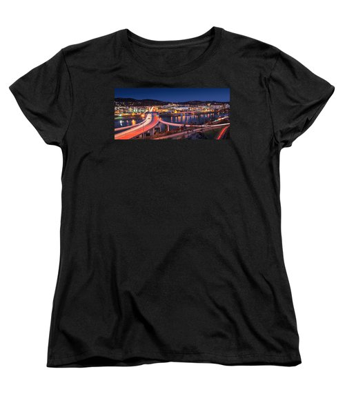Charleston Wv At Night Women's T-Shirt (Standard Cut) by Mary Almond