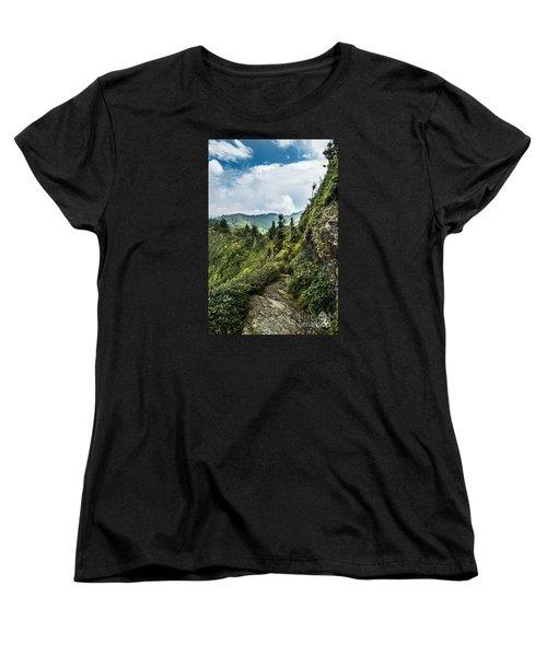 Women's T-Shirt (Standard Cut) featuring the photograph Charlies Bunion Trail by Debbie Green