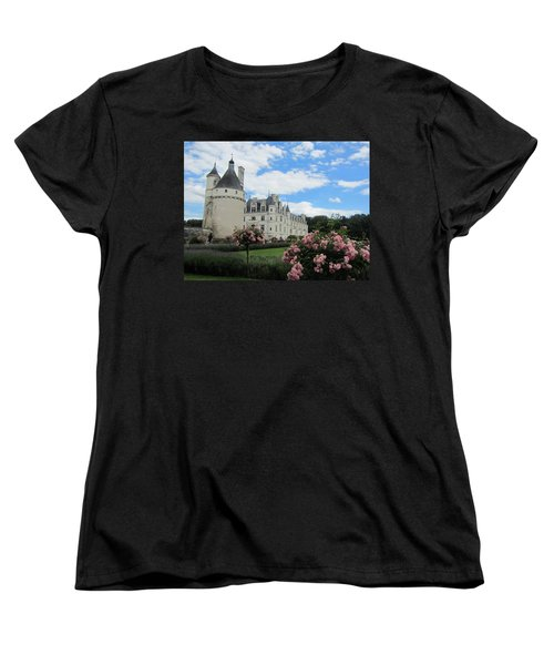 Women's T-Shirt (Standard Cut) featuring the photograph Chateau Chenonceau by Pema Hou