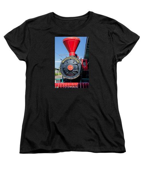 Women's T-Shirt (Standard Cut) featuring the photograph Chattanooga Choo Choo Steam Engine by Susan  McMenamin