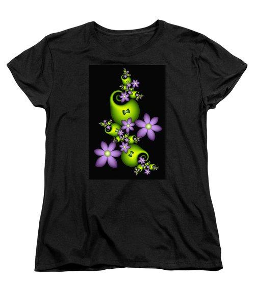 Women's T-Shirt (Standard Cut) featuring the digital art Cheerful by Gabiw Art