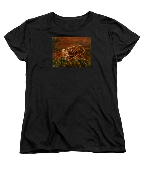 Cheetah Family After The Rains Women's T-Shirt (Standard Cut) by Sean Connolly