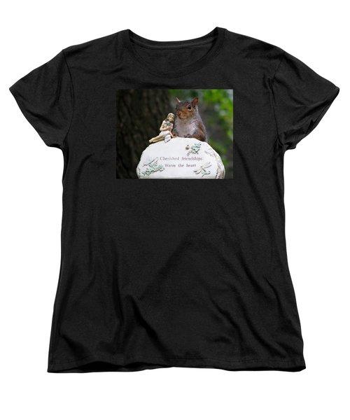 Women's T-Shirt (Standard Cut) featuring the photograph Cherished Friendships by John Haldane