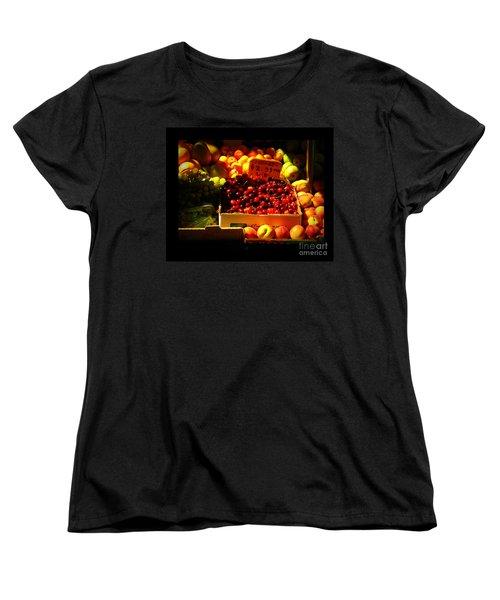 Cherries 299 A Pound Women's T-Shirt (Standard Cut) by Miriam Danar