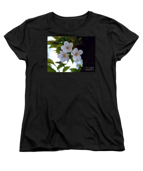 Women's T-Shirt (Standard Cut) featuring the photograph Cherry Blossom by Andrea Anderegg