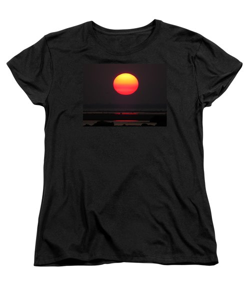 Women's T-Shirt (Standard Cut) featuring the photograph Cherry Drop Sunrise by Dianne Cowen
