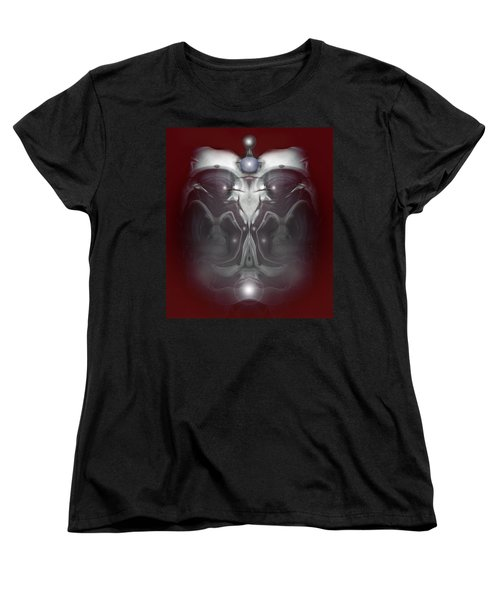 Women's T-Shirt (Standard Cut) featuring the digital art Cherub 7 by Otto Rapp