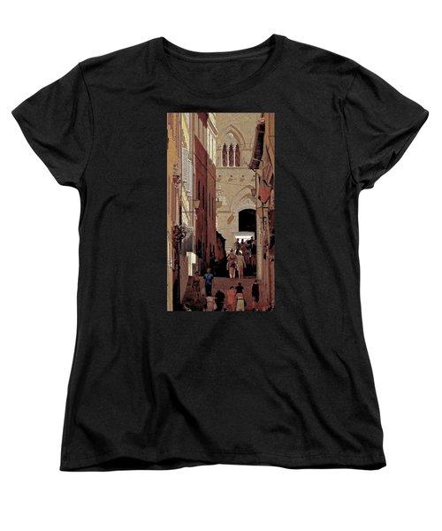 Chiaroscuro Siena  Women's T-Shirt (Standard Cut) by Ira Shander