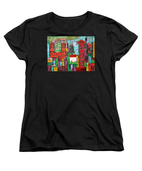 Chicago - City Of Fun - Sold Women's T-Shirt (Standard Cut) by George Riney