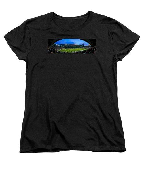 Chicago Bears At Soldier Field Women's T-Shirt (Standard Cut) by Steve Gadomski