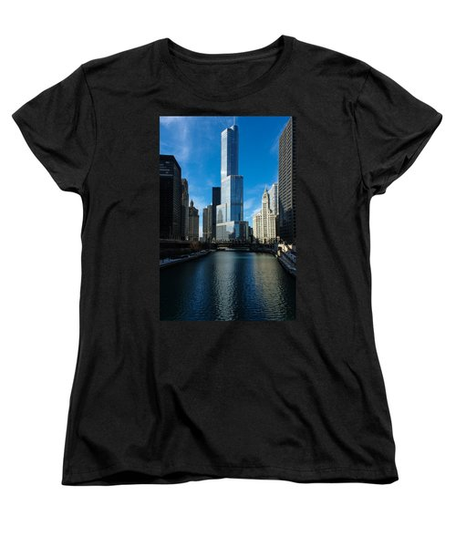 Women's T-Shirt (Standard Cut) featuring the photograph Chicago Blues by Georgia Mizuleva