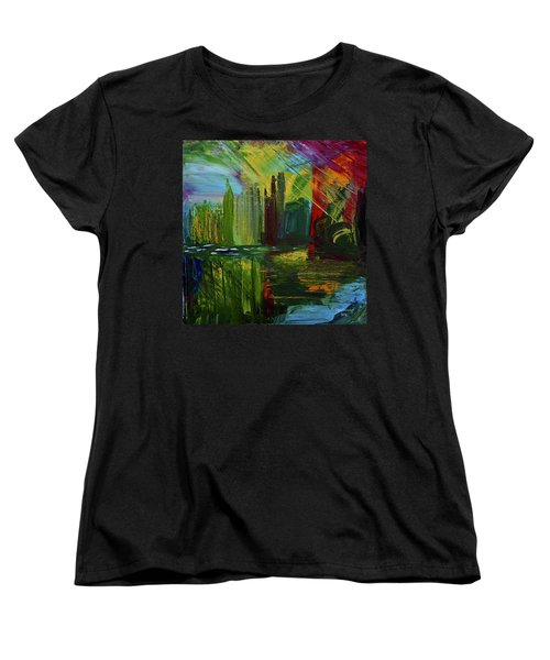 Chicago City Scape Women's T-Shirt (Standard Cut) by Dick Bourgault