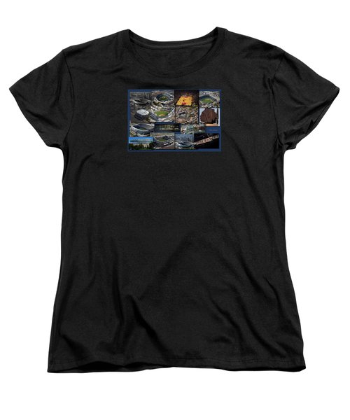 Chicago Sports Collage Women's T-Shirt (Standard Cut) by Thomas Woolworth