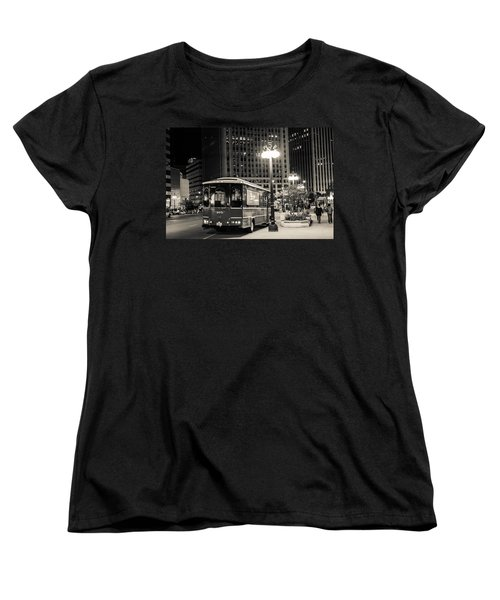Chicago Trolly Stop Women's T-Shirt (Standard Cut) by Melinda Ledsome