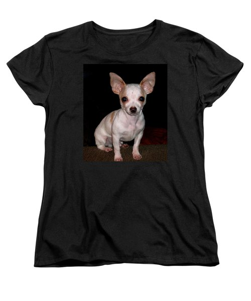 Chihuahua Puppy Women's T-Shirt (Standard Cut) by Maria Urso