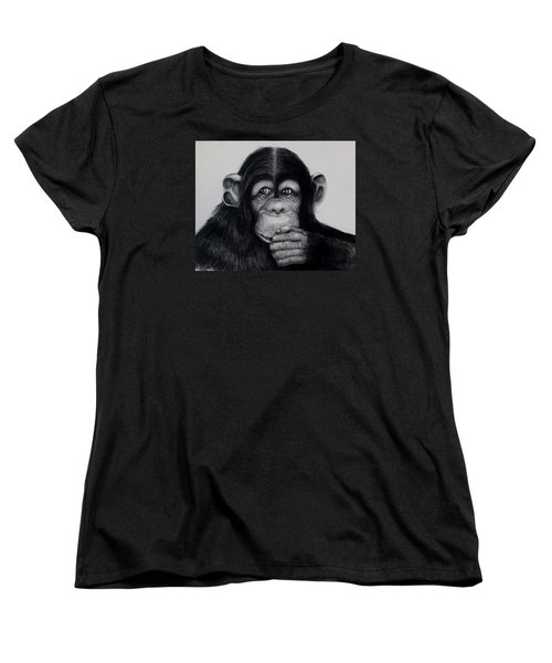 Chimp Women's T-Shirt (Standard Cut) by Jean Cormier