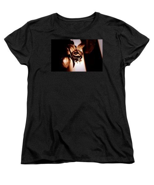 Chocolate Silk Fuchsia Women's T-Shirt (Standard Cut) by Jeanette C Landstrom