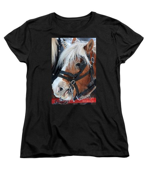 Women's T-Shirt (Standard Cut) featuring the photograph Chomping On The Bit by Alyce Taylor