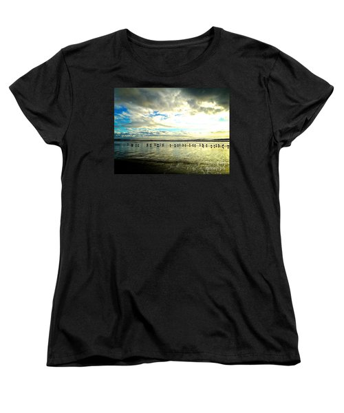 Women's T-Shirt (Standard Cut) featuring the photograph A Chorus Line  by Margie Amberge