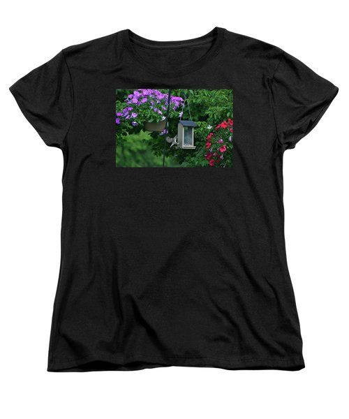 Women's T-Shirt (Standard Cut) featuring the photograph Chow Time For This Bird by Thomas Woolworth