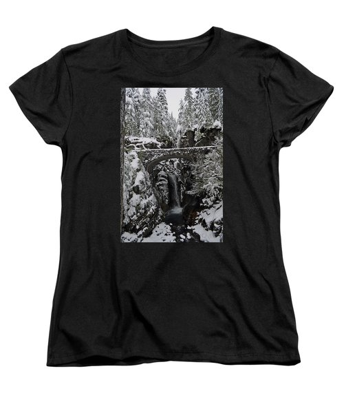 Christine Falls In The Winter Women's T-Shirt (Standard Cut) by Tikvah's Hope