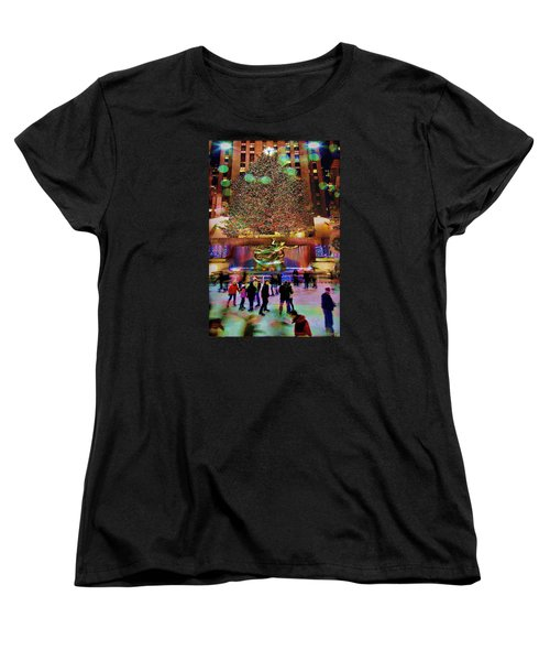 Women's T-Shirt (Standard Cut) featuring the photograph Christmas At The Rock by Chris Lord