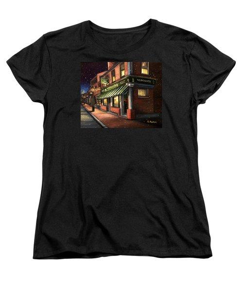Christmas At Virgilios Women's T-Shirt (Standard Cut) by Eileen Patten Oliver