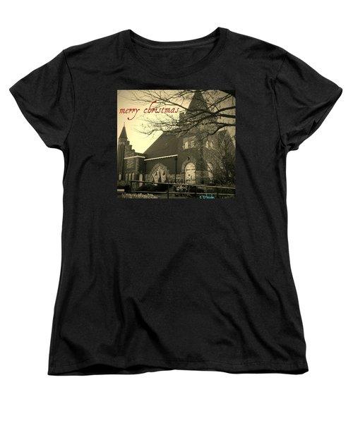 Christmas Chapel Women's T-Shirt (Standard Cut)