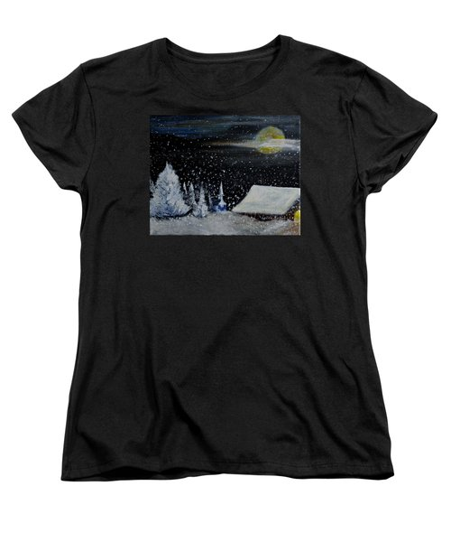 Christmas Eve Women's T-Shirt (Standard Cut) by Dick Bourgault