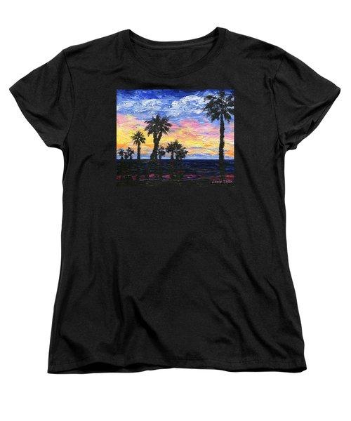 Christmas Eve In Redondo Beach Women's T-Shirt (Standard Cut) by Jamie Frier