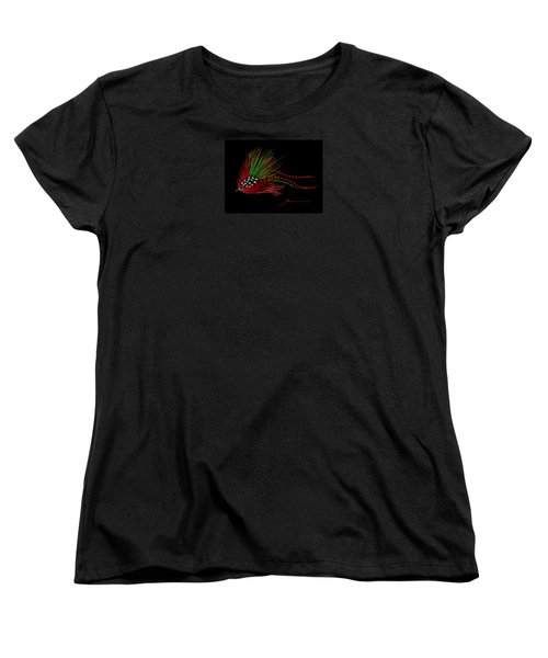 Women's T-Shirt (Standard Cut) featuring the painting Christmas Fly by Jean Pacheco Ravinski