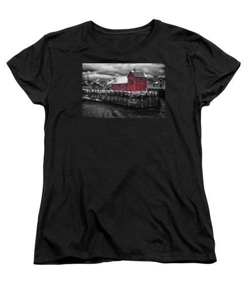 Christmas In Rockport New England Women's T-Shirt (Standard Cut) by Jeff Folger