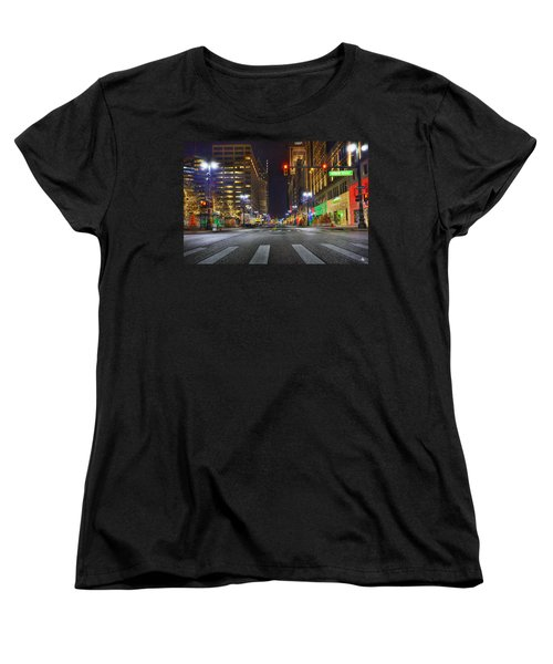 Christmas On Woodward Women's T-Shirt (Standard Cut) by Nicholas  Grunas