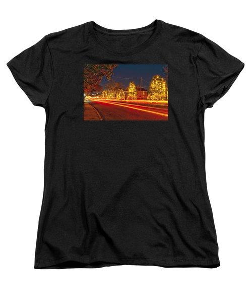 Women's T-Shirt (Standard Cut) featuring the photograph Christmas Town Usa by Alex Grichenko