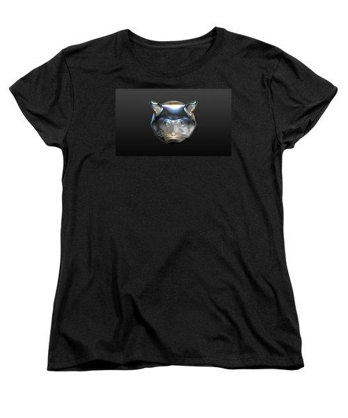 Chrome Cat Women's T-Shirt (Standard Cut) by Stacy C Bottoms