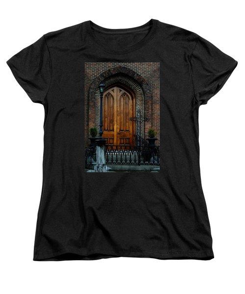 Church Arch And Wooden Door Architecture Women's T-Shirt (Standard Cut)
