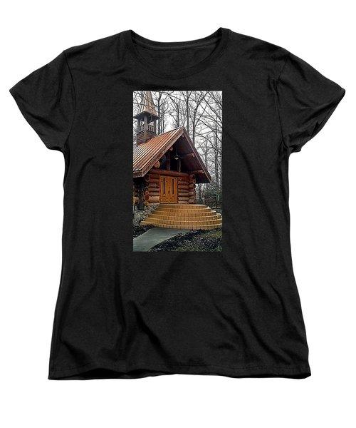 Church Women's T-Shirt (Standard Cut) by Janice Spivey