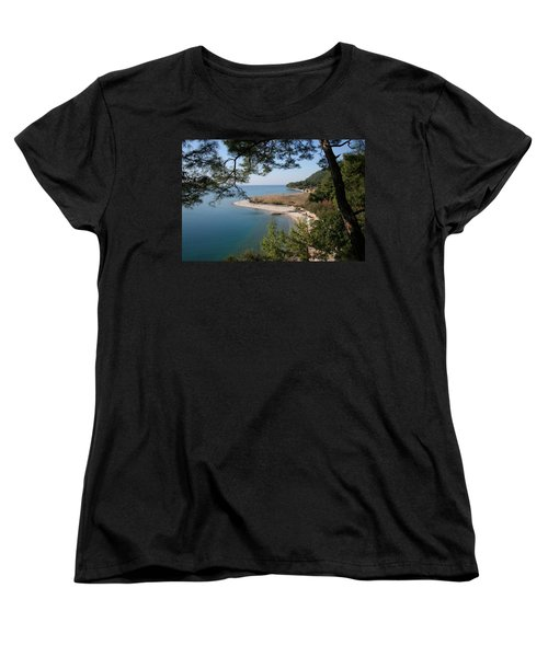 Women's T-Shirt (Standard Cut) featuring the photograph Cinar Beach by Tracey Harrington-Simpson