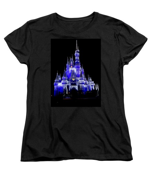 Cinderella's Castle Women's T-Shirt (Standard Cut) by Laurie Perry