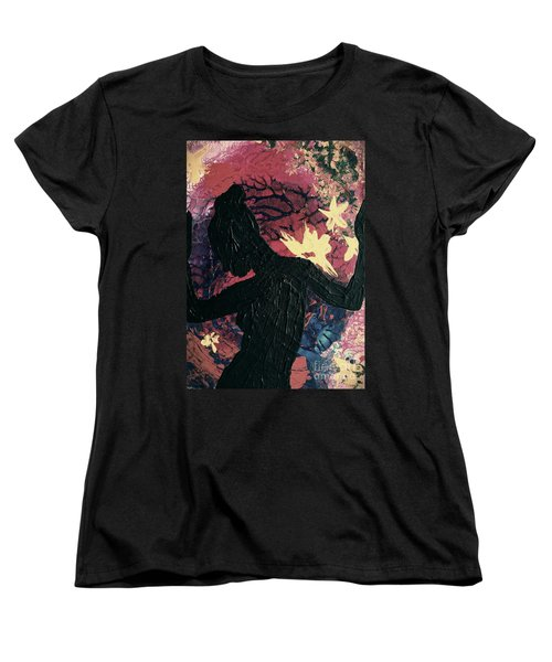 Women's T-Shirt (Standard Cut) featuring the painting Cinnamon by Jacqueline McReynolds