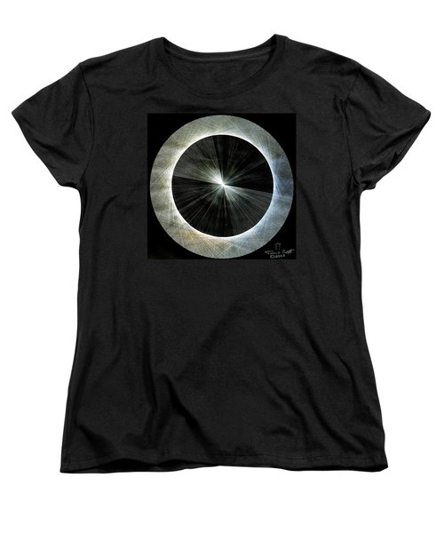 Women's T-Shirt (Standard Cut) featuring the drawing Circles Do Not Exist 720 The Shape Of Pi by Jason Padgett